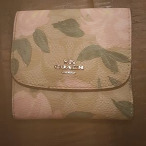 Never used Coach flower print wallet